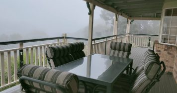 Morning Mist on the Deck